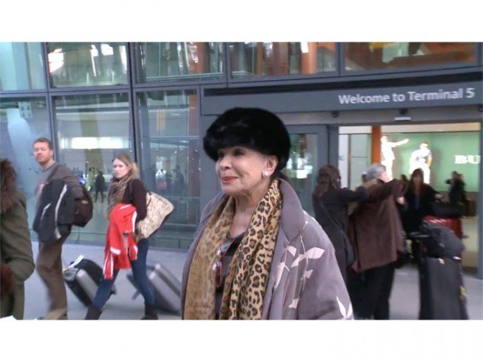 Shirley Bassey at Heathrow